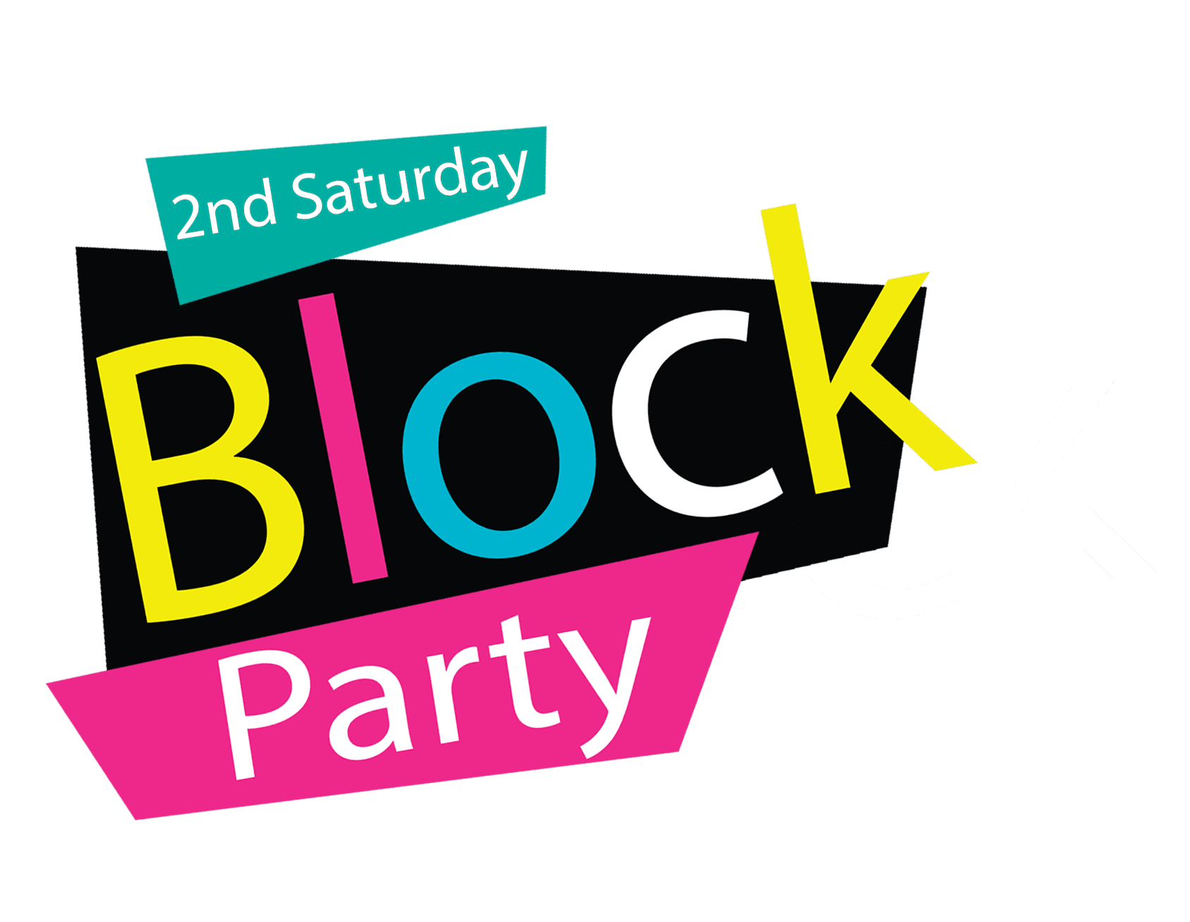 Second Saturday Block Party Logo