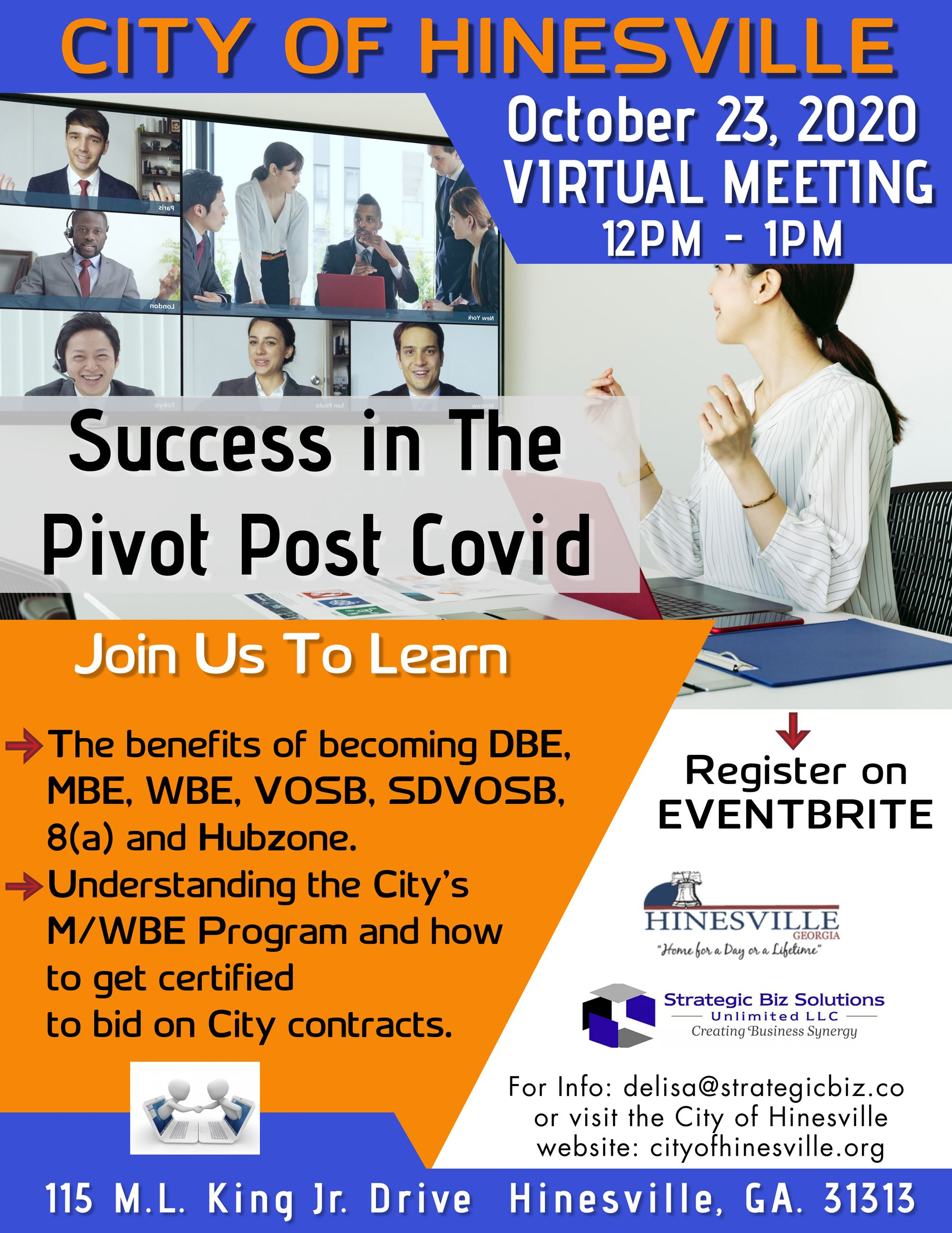 Success in the Pivot Post-COVID Workshop Flyer